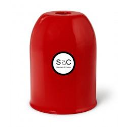 Bicchierino in metallo con Portalampada E27 e Serracavo Rosso