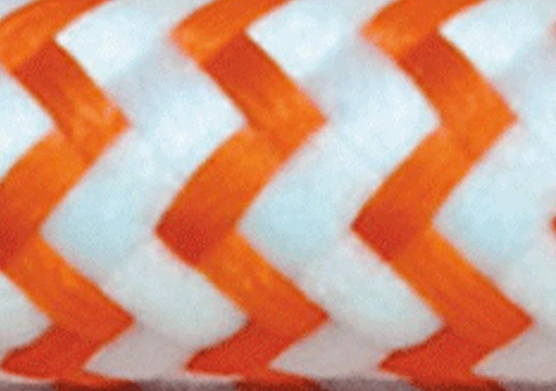 Zig Zag Bianco Arancio