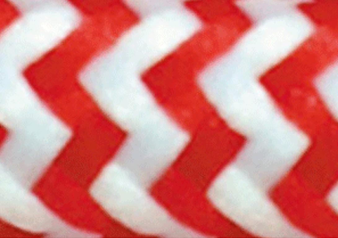Zig Zag Bianco Rosso
